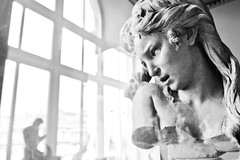 All He Ever Cares About is His Klout Score (April Joy Gutel) Tags: sculpture paris statue louvre carving bust aprilinparis