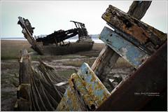 fleetwood_shipwreck-7 (D_M_J) Tags: white seascape black abandoned river landscape boats coast xpro fuji lancashire shipwreck marsh fleetwood wyre fylde