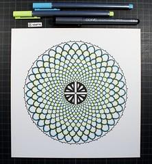 Daily Mandala #13 (woerm) Tags: wien flower beautiful ink design pattern mandala hermann vie copic siddhartha hesse multiliner woerm dailymandala vision:text=0891 vision:outdoor=0785