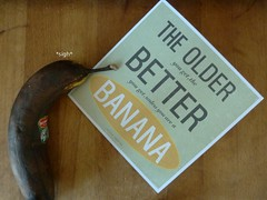It is hard to be a banana (Saromat (photographs by Sarah B.)) Tags: old fun alt banane braun birthdaycard frucht reif obst bldsinn gruskarte