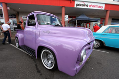 1955 Ford F100 Pick Up,  2014 Kurri Kurri Nostalgia Festival, Sunday 30th Mar, Kurri Kurri, NSW. (brettmichal Images) Tags: show camera ford 1955 car festival canon lens display violet www pickup f100 exhibition ute nostalgia nsw 7d motor 55 1022mm zzz carshow xyz 2014 kurri kurrikurri nostalgiafestival