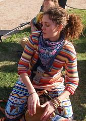 color beat (Roman Okhotnikov) Tags: portrait people girl beauty drums bongo petersburg beat drummer emotional petersbourg epl1