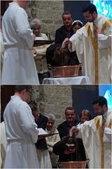 Baptêmes de Victoire et Dalva pendant la vigile pascale