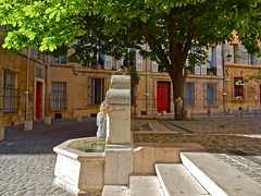 Reverie (nls451) Tags: street plaza city travel france fountain architecture buildings square evening spring europa europe fuente eu aixenprovence brightcolors provence francia fontaine southoffrance oldstreet frenchtown sudfrance antiguo oldcity aix eveninglight oldeurope oldarchitecture europeancity springinfrance springcolors frenchcity citycolors travelinfrance europeantown couleursdusud aixsquare