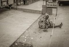 ''Shabdhan. Nirmaan Kaaj Cholitecche'' (Azeez Khan Photography) Tags: poverty old woman streets construction humanity homeless poor hunger elderly aged development bangladesh chittagong