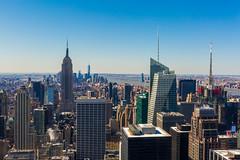 View from The rock, New York City (-kaprifol-) Tags: usa newyork rock skyline skyscraper manhattan empire rockefeller