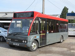 Optare Solo YJ61JHV (showtrac) Tags: green garage solo hatch optare yj61jhv