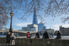 The Shard from Thames Riverside Pathway (East Midlands Lad) Tags: city uk england urban colour london thames skyline architecture modern river cityscape fuji shard pathway the 1024 xe1 1024mm