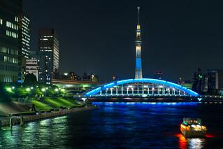永代橋と東京スカイツリー / Tokyo Skytree