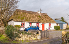 The Little Old Mud Cabin on the Hill! (swordscookie AWAY for a while) Tags: door windows red bicycle shed thatchedcottage colimerick clarina carrigogunnell