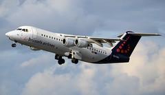 Brussels Airlines British Aerospace BAe Avro RJ100 OO-DWJ Climb (Mark 1991) Tags: edinburgh bae edi avro britishaerospace rj100 edinburghairport brusselsairlines oodwj