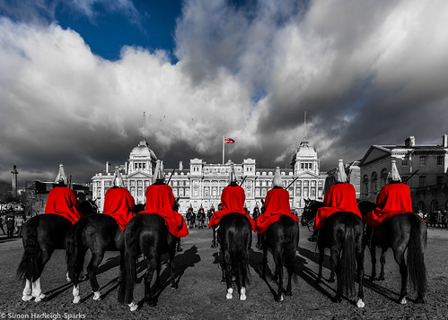 Changing The Guard - Horse Guards Parade London by Simon & His Camera (Cover To My First Book)