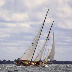 Speeding Away (joegeraci364) Tags: ocean new wood sea england cloud seascape heritage nature water beauty weather festival race landscape outdoors boat marine ship action yacht outdoor antique connecticut craft vessel atlantic maritime boating sail mast nautical brilliant mystic whaler