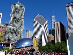 IMG_1362 (pastough) Tags: cloud chicago illinois gate millenniumpark trumptower cloudgate craincommunicationsbuilding theheritageatmillenniumpark may2016