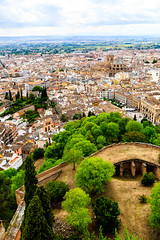Granada viewed from the Alhambra - the square on the right is Plaza Nueva (peripathetic) Tags: beauty canon spain worldheritagesite espana alhambra granada 5d palaces 2016 nasrid nazaries 5dmkiii 5dmk3 canoneos5dmk3