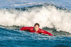Paddling back -Tallow Beach Surfers (sbyrnedotcom) Tags: blue sea beach sports surf waves action australia surfing nsw surfers tamron byronbay tallowbeach