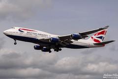 British Airways --- Boeing 747-400 --- G-CIVY (Drinu C) Tags: adrianciliaphotography sony dsc hx100v lhr egll plane aircraft aviation britishairways 747 boeing 747400 gcivy