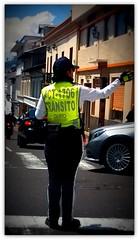 Traffic Police in Quito (olavagnar) Tags: southamerica inca ecuador inka andes equator dios amerindian lasierra spanishlanguage republicofecuador colonized incaempire patriaylibertad sramerika ekvator inkariket repblicadelecuador amerindiangroups colonizedbyspain viceroyaltyofnewgranada