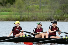 Front-row seats at the finish line of someone else's race (rachel.roze) Tags: river boat julia rosa uniforms maeve hanover connecticutriver may2016 hhsnovicecrewteam