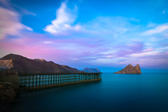Embarcadero del Hornillo (Alberto G. G.) Tags: longexposure sunset sea espaa costa seascape beach atardecer nikon playa colores murcia nd coastline aguilas largaexposicin wonderworld 10stop d7100