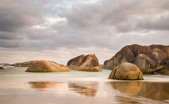 Reflections Elephant Rocks (laurie.g.w) Tags: sky cloud seascape elephant reflections landscape denmark bay nationalpark rocks dusk shoreline australia william western