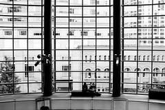 Benaroya Hall. Seattle, WA. May 2016. (poopoorama) Tags: seattle windows people blackandwhite architecture grid washington downtown unitedstates geometry fujifilm xseries dannyngan x100t dannynganphotography