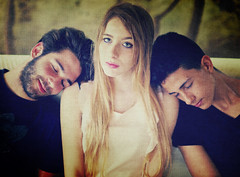 Triad (Steve Lundqvist) Tags: portrait people boys girl youth toy young teenagers teen ritratto giovani quandary ragazzi