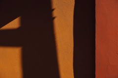 Sunrise Slice (abstract from a wall on Gilbert Street, Adelaide) (michelle-robinson.com) Tags: shadows 4tografie abstractions wall abstract angles australia vscocam colour photography adelaide southaustralia michellerobinson fujifilm michmutters xt10 orange