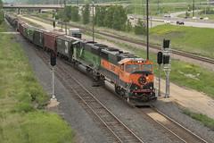 The Great Pumpkin at Red Rock (mtuswan) Tags: railroad train newport mn bnsf burlingtonnorthern greatpumpkin burlingtonnorthernsantafe