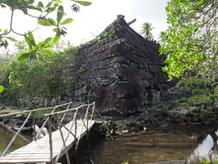 "Nan Madol was a city built for the rulors in ancient times. Its built with heavy stones and the question is how they transportef them here. Its also known as the ""Venice of the pacific""."
