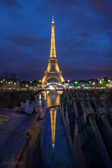 Eiffel Tower at Blue Hour, Paris, France (Abhi_arch2001) Tags: blue paris france tower eiffel hour