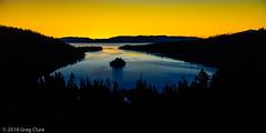 Emerald Bay Duo-tone, Lake Tahoe (Greg Clure Photography) Tags: california lake mountains sunrise landscape bay photo spring seasons image eagle nevada tahoe falls sierra eastern emerald gallary otherkeywords