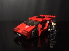 Chibi-Swipe Vehicle Mode Scale (Sam.C MOCs) Tags: lego transformers sideswipe chibi moc mech robot anime scifi car lamborghini countach
