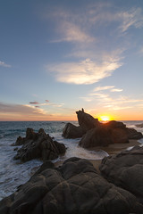 Sunset at Pedregal, Cabo San Lucas, Mexico (tylermielnichuk) Tags: sunset beach silhouette canon mexico rocks 7d cabosanlucas tokina1116mmf28