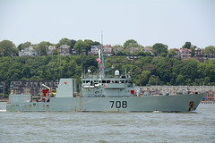 The HMCS Moncton (MM708) Is A Kingston Class Defense Vessel That Has Served In The Canadian Forces Since 1998. It Is Participating In The 2016 New York City Parade Of Ships To Mark The Start Of 2016 Fleet Week In New York City. Photo Taken May 25, 2016 (ses7) Tags: nyc moncton week fleet hmcs royalcanadian navy2016