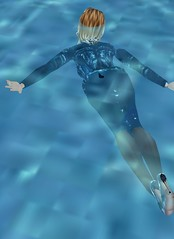 23 (SoakinJo) Tags: highheels wetsuit wetlook swimminginclothes wetclothes swimmingfullyclothed imvu