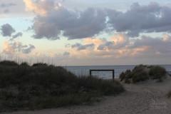 Paisible (Maddilly M.G.) Tags: sunset sea sky green nature water clouds evening sand eau dune sable ciel soire nuages soir vagues coucherdesoleil waterscape douceur paisible rservenaturelle