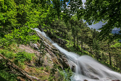 river and waterfall (danieldeoux) Tags: naturaleza mountain nature water montagne river waterfall spain rivire valley montaa cascade cascada valle
