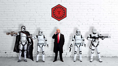 Trump Wall (PIERRE LECLERC PHOTO) Tags: wall stormtroopers evil donaldtrump guards trump darkside firstorder emeror flametrooper captainphasma