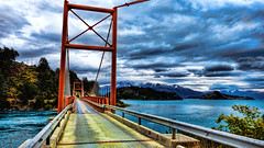 Puente Desage Lago General Carrera (Miradortigre) Tags: puente lago chile aysen patagonia colgante hanging bridge ponte carretera ruta austral carreteraaustral