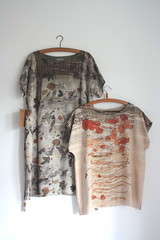 tunic dress and a top (red2white) Tags: uk plants print scotland highlands with natural handmade dyeing eco printed dyed naturally