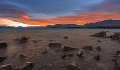 Lake Tekapo Sunrise (Arief Rasa) Tags: newzealand mountain lake sunrise waves lakeside nz lakeshore laketekapo lakeview southernalps rockybeach sunsetsunrise tekapo sunriseandsunset rockyshores