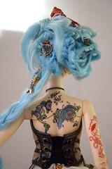 Back tattoo and wig ~ (Dollheimr) Tags: stilllife photo doll bjd henna mehndi forsell balljointeddoll ooakdoll sd13 dollcustom stilllifephoto dollphoto dolltattoo bjdcustom bjdforsell bjdooak bjdtattoo bjdphoto