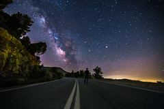 Destination unknown (Vagelis Pikoulas) Tags: road street light summer sky june night canon way myself stars lights star view nightscape space tokina greece porto universe milky selfshot milkyway selfie 6d 2016 germeno 1628mm