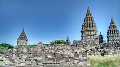 One sunny day at Prambanan (angeliayulita) Tags: heritage indonesia temple ancient rocks cloudy culture sunny bluesky gods historical jogja hindi prambanan goddes xiaomi wonderfulindonesia