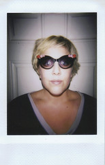 Day 062 (H o l l y.) Tags: lomography lomoinstant fuji instax mini film analog self portrait girl sunglasses blonde sick flash last day terrible home fever retro indie vintage