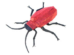 Lily beetle by Damian Malicki (Damian Malicki Origami) Tags: lily beetle damian malicki mulberry tissue paper origami insect