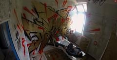 La Tuberculose (Depar de Pizza !) Tags: urbex depar rouge or sanatorium abandonn tag graffiti graff sp6mn peinture tuberculose