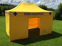 Quick Folding Tent - Yellow EHBO tent (14)