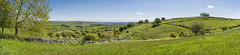 A Derbyshire landscape in summer (Keartona) Tags: taddington view landscape countryside panorama panoramic stitched wide fields gate green summer england english derbyshire sunny day